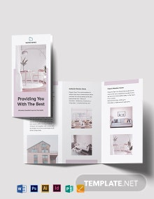 Open House Tri-fold Brochure Template