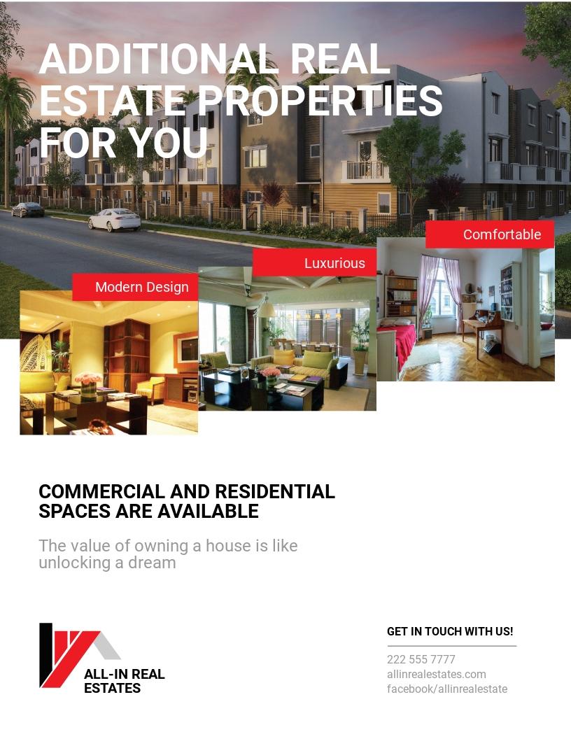 Free Modern Real Estate Service Flyer Template.jpe