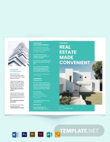 Property Broker Bi-Fold Brochure Template