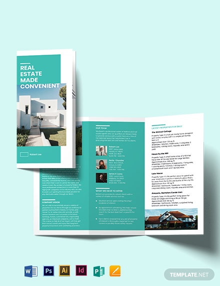 Property Broker Tri-Fold Brochure Template