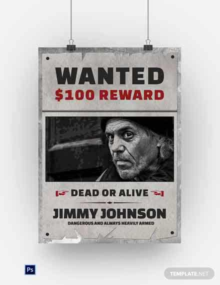 Vintage Wanted poster Template