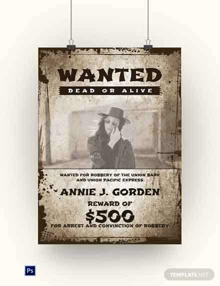 Cowgirl Wanted Poster