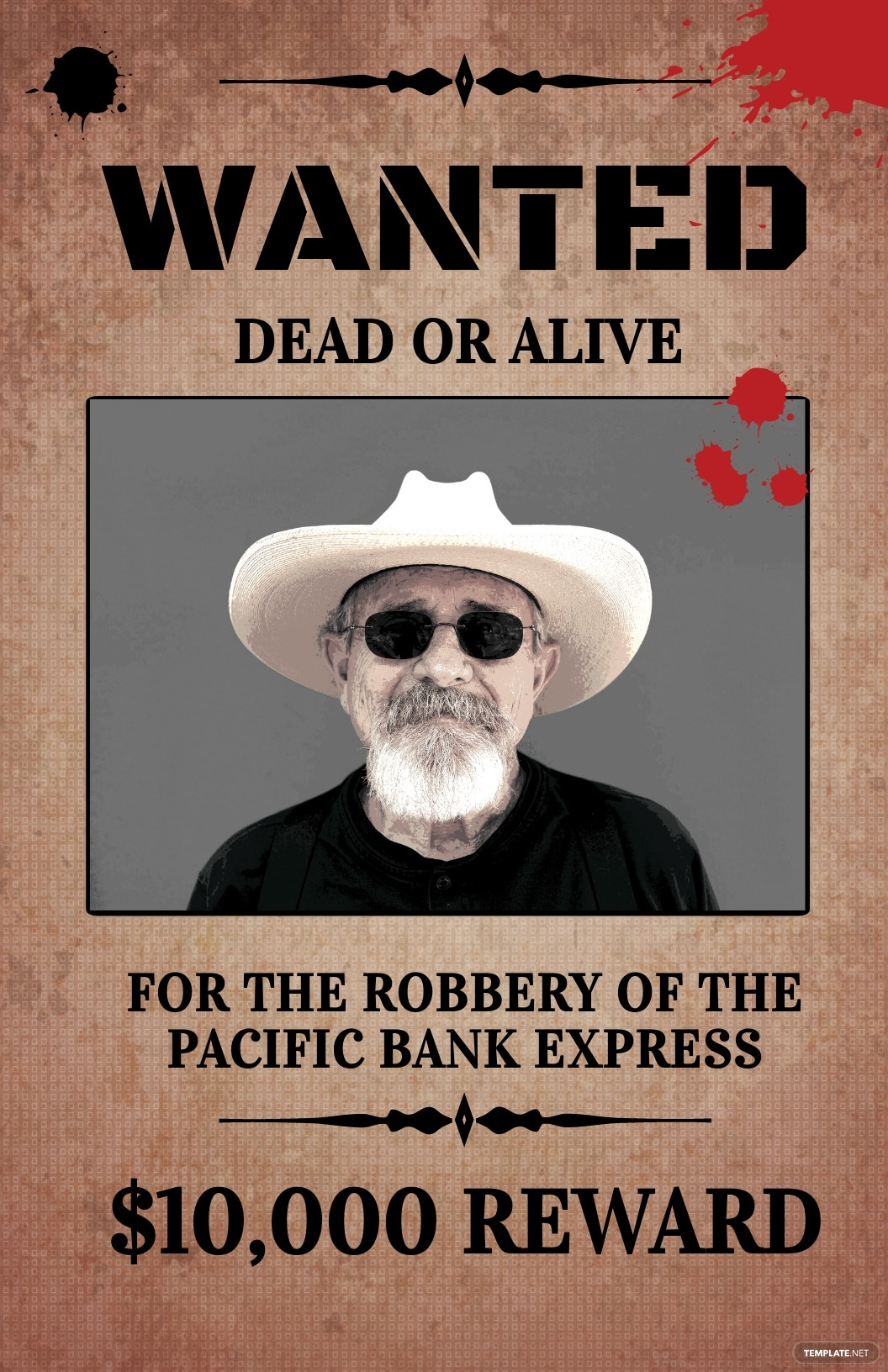 Rustic Wanted Poster Template [Free JPG] - PSD