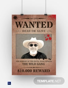 Rustic Wanted Poster Template