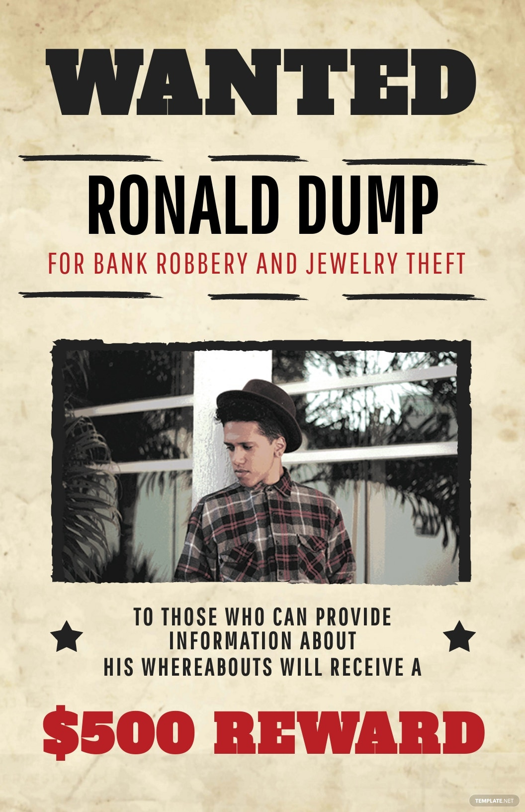 Dead or Alive Wanted Poster Template [Free JPG] - PSD