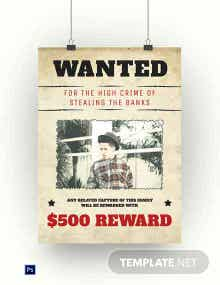 Dead or Alive Wanted Poster Template
