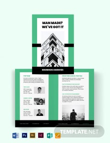 Property Manager Bi-Fold Brochure Template