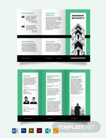 Property Manager Tri-Fold Brochure Template
