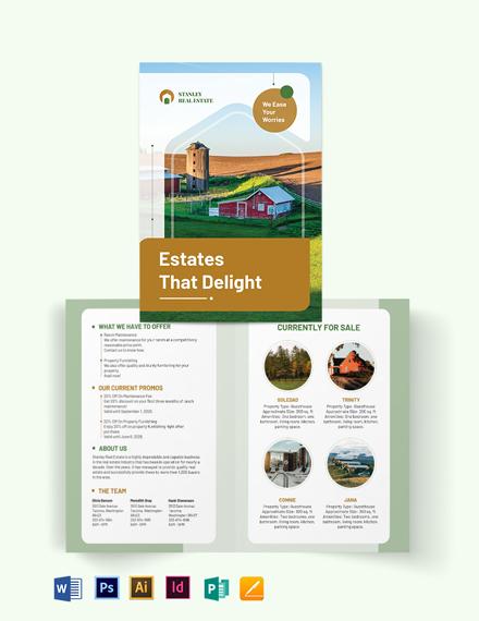 Ranch Bi-Fold Brochure Template