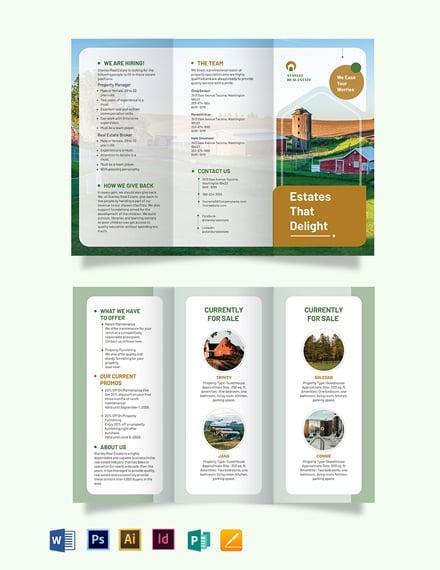 Ranch Tri-Fold Brochure Template