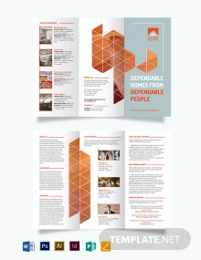Real Estate Broker Promotional Tri-Fold Brochure Template