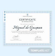 Free employee certificate of appreciation template in for Pastor appreciation certificate template free