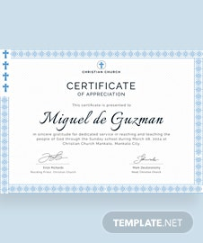 Free internship certificate template in illustrator for Pastor appreciation certificate template free
