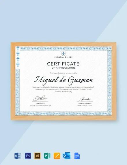 Free Pastor Appreciation Certificate Template