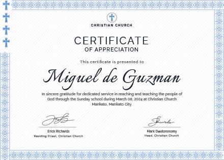 pastor appreciation certificate template free - certificate of gratitude appreciation template