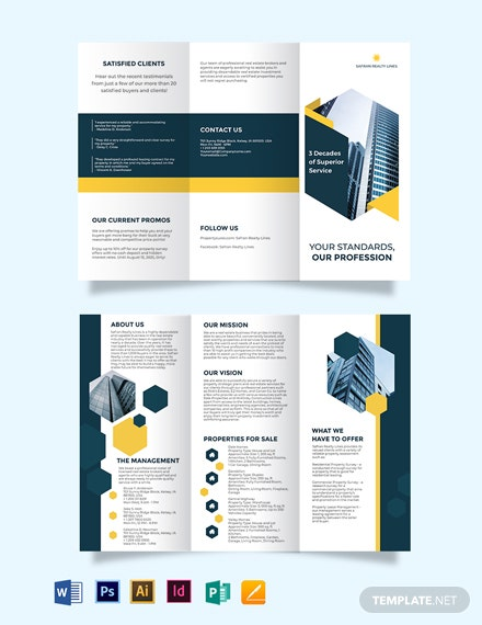 RealEstate Company Investor Tri-Fold Brochure Template