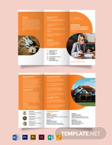 RealEstate Company Marketing Tri-fold Brochure Template