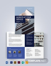 Real Estate Company Promotional Bi-fold Brochure Template