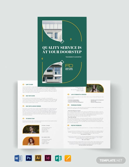 Realestate Expired listing Bi-fold Brochure Template