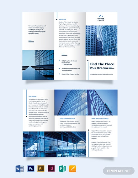Real Estate Investment Company Tri-Fold Brochure Template