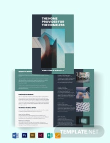 Real Estate Investment Group Bi-Fold Brochure Template