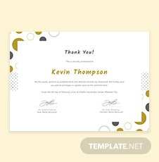 Free Customer Appreciation Certificate Template