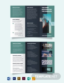 Real Estate Investment Group Tri-Fold Brochure Template