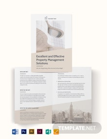 Real Estate Management Bi-Fold Brochure Template