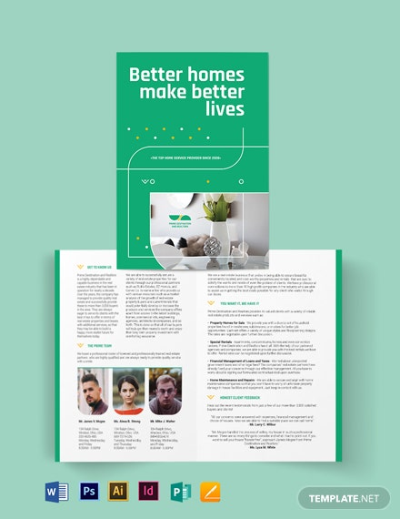 Real Estate Partners Bi-fold Brochure Template