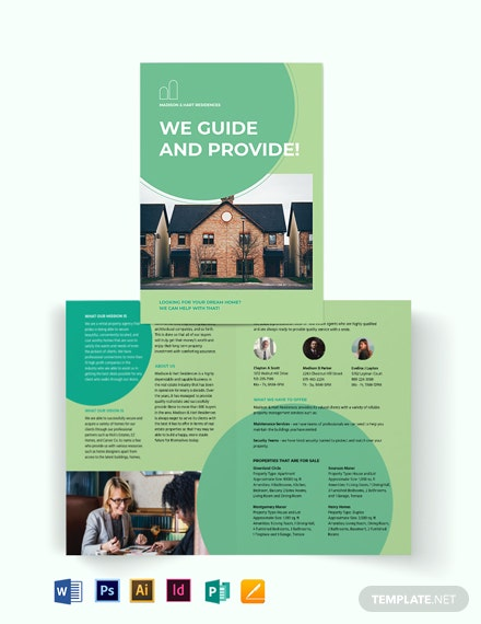 Rental Agent/Agency Bi-Fold Brochure Template