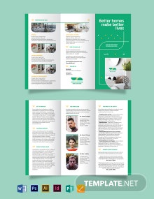 Real Estate Partners Tri-fold  Brochure Template