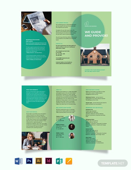 Rental Agent/Agency Tri-Fold Brochure Template