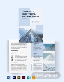 Wholesales Real Estate Investment Bi-Fold Brochure Template