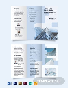 Wholesales Real Estate Investment Tri-Fold Brochure Template