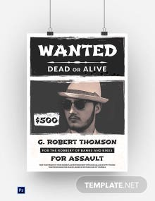 Old Western Wanted Poster Template