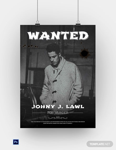 Free Outlaw Wanted Poster Template