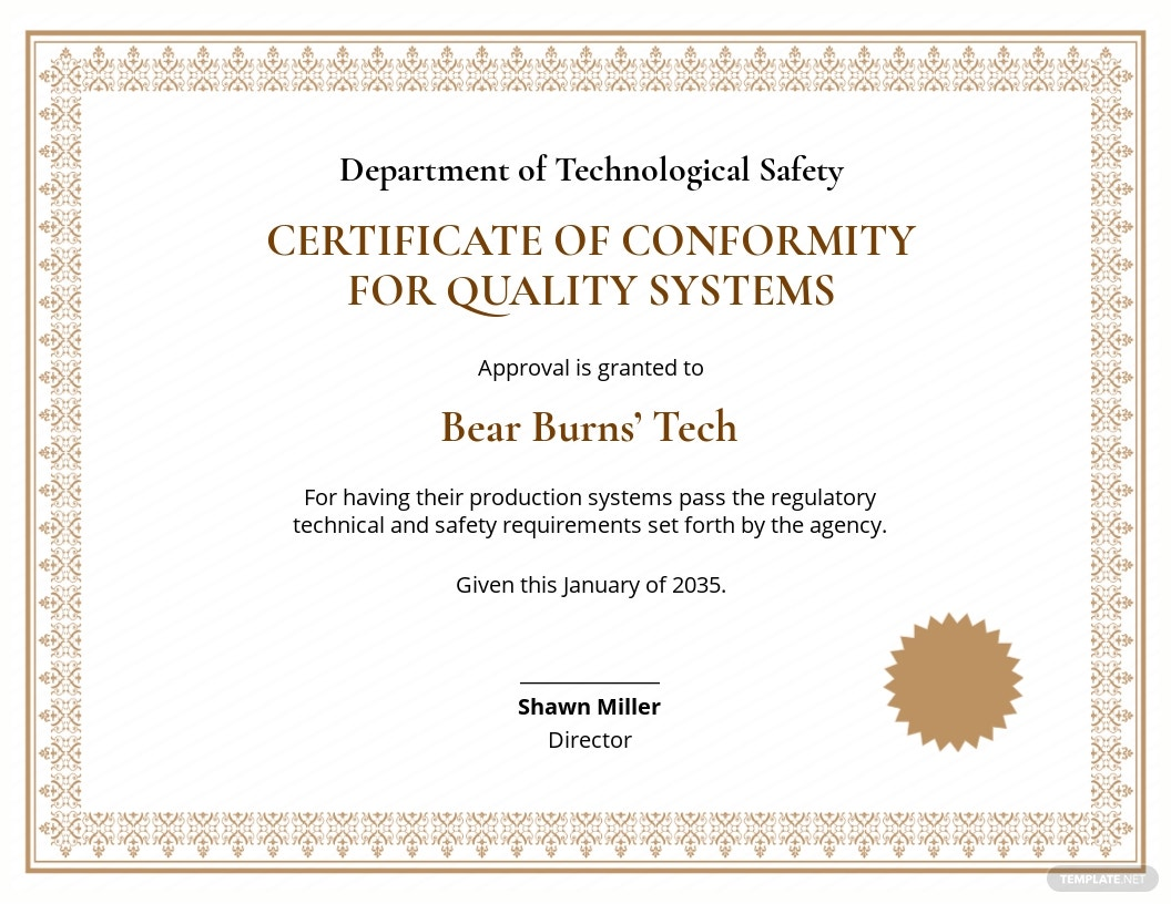 Quality System Conformance Certificate.jpe