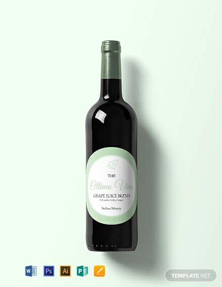 Free Circles Wine Label Template