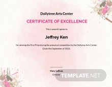 Painting Competition Excellence Certificate