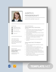 Computer Support Analyst Resume Template