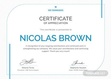 Free Employee Appreciation Certificate Template Download 200