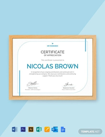 Free Employee Appreciation Certificate Template