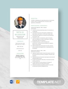 Construction Inspector Resume Template