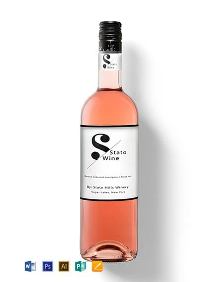 Mini Wine Label Template