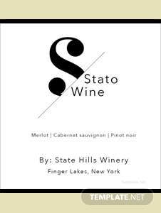 Free Mini Wine Label Template