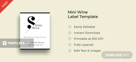 Free Wine Bottle Label Template In Microsoft Word Microsoft - Mini wine label template