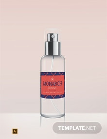 Free Perfume Bottle Label Template