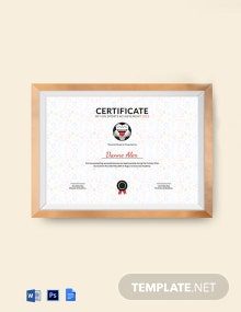 Funny Sports Achievement Certificate Template