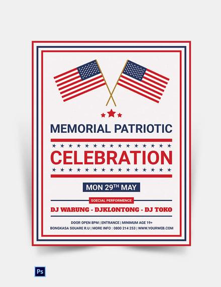 Editable Memorial Patriotic Flyer