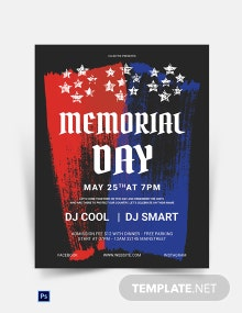 Memorial Day Celebration Poster Template